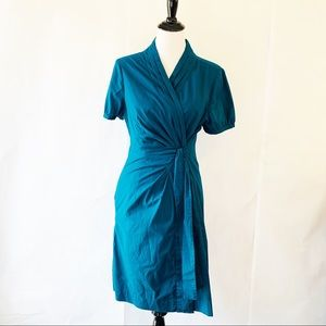 The Limited Blue Wrap Tied Dress 12